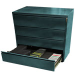 4-Drawer CD/Data Storage Cabinet